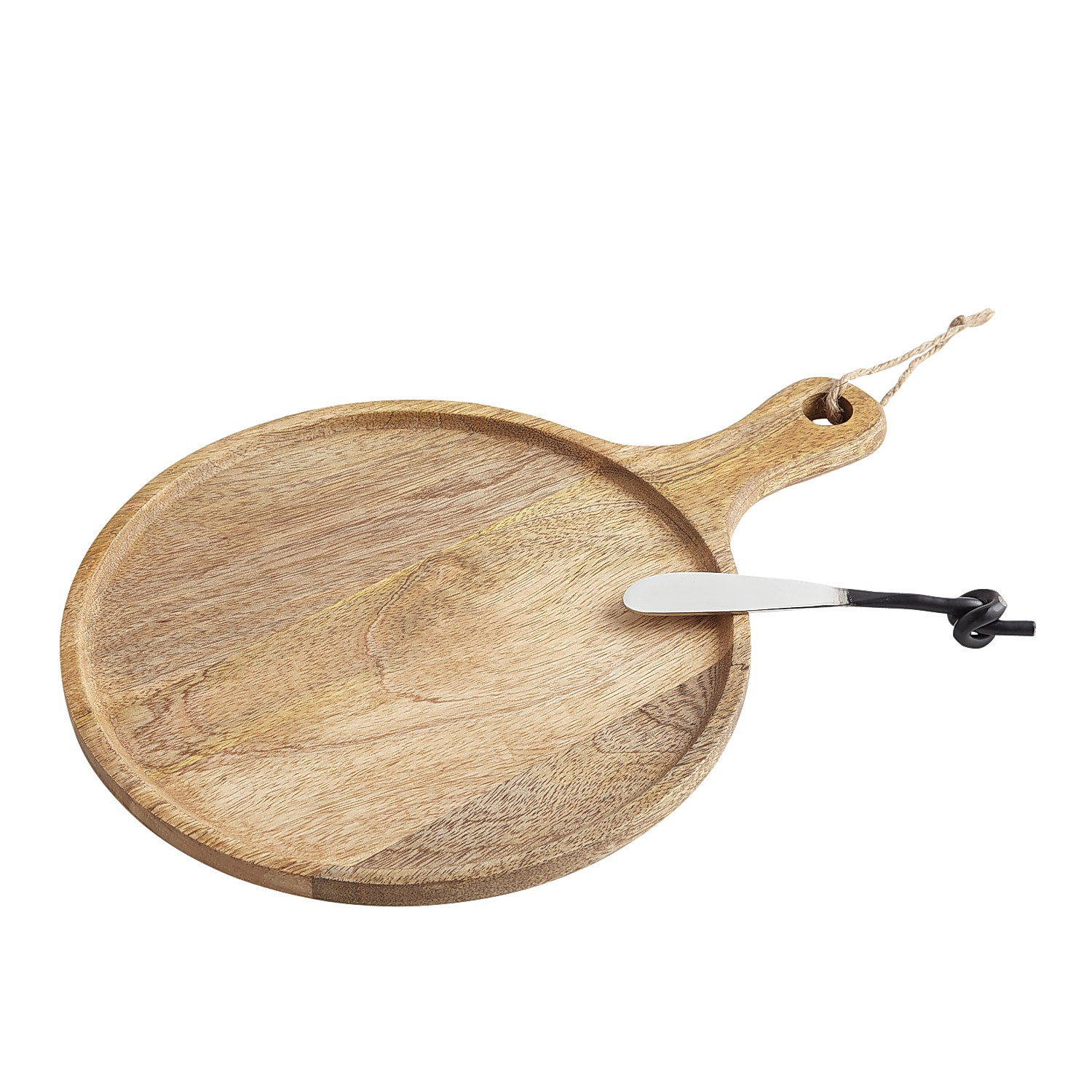 Wooden Cheese Board With Spreader