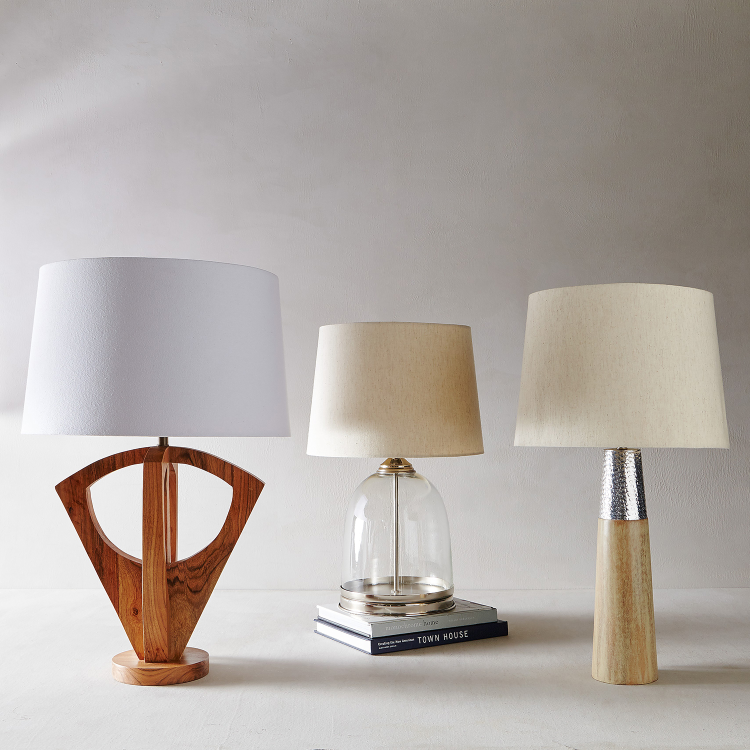 Slim Iron & Wood Table Lamp