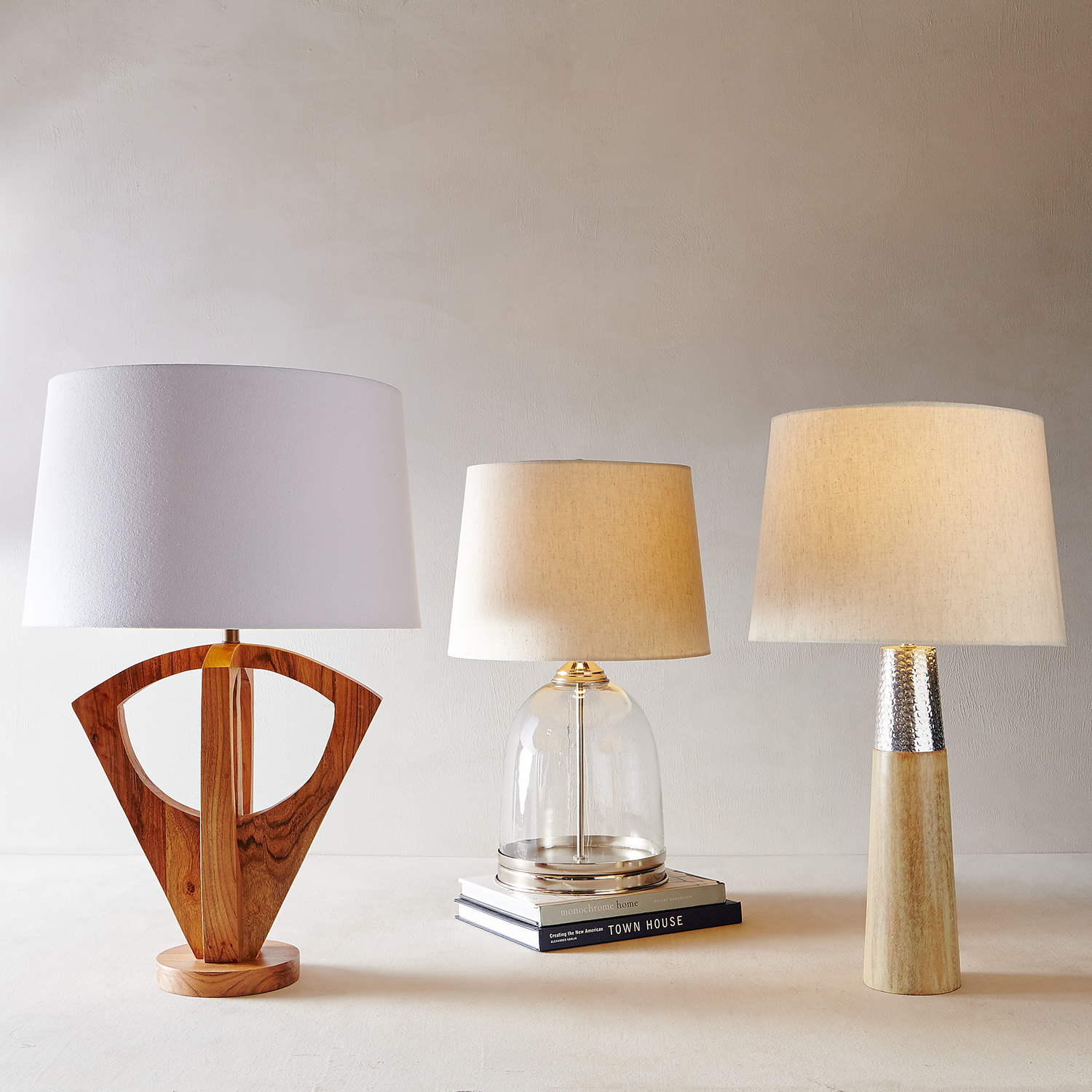 variation thumbnail of Slim Iron & Wood Table Lamp