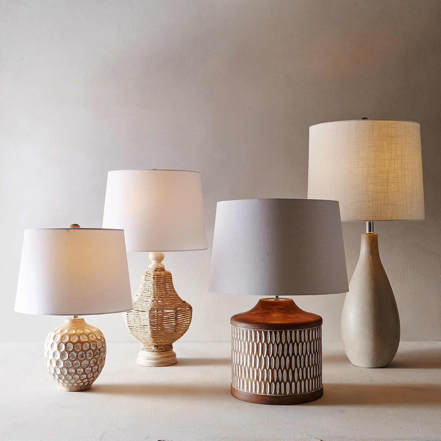 Wood Slices Table Lamp