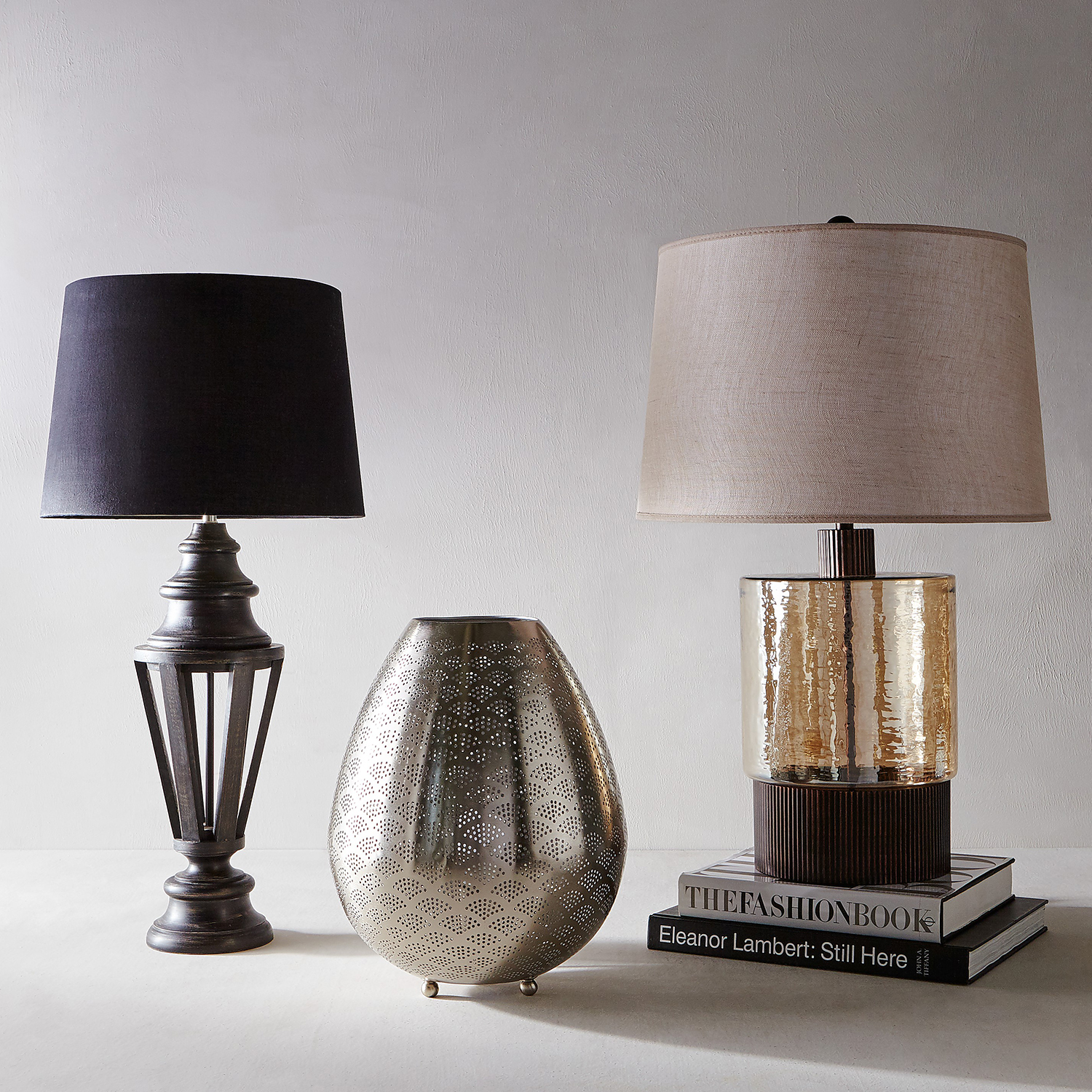 Amber Table Lamp