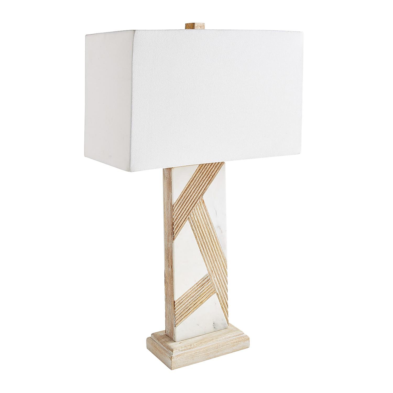 Modern White Rectangular Table Lamp