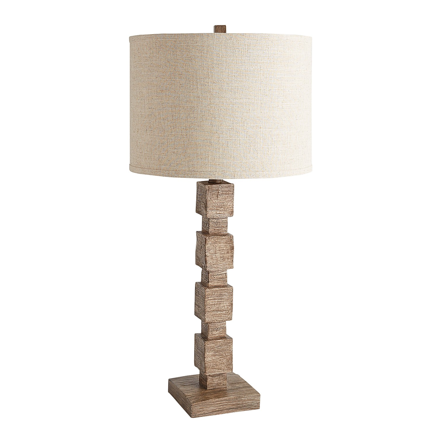 Square Wooden Table Lamp