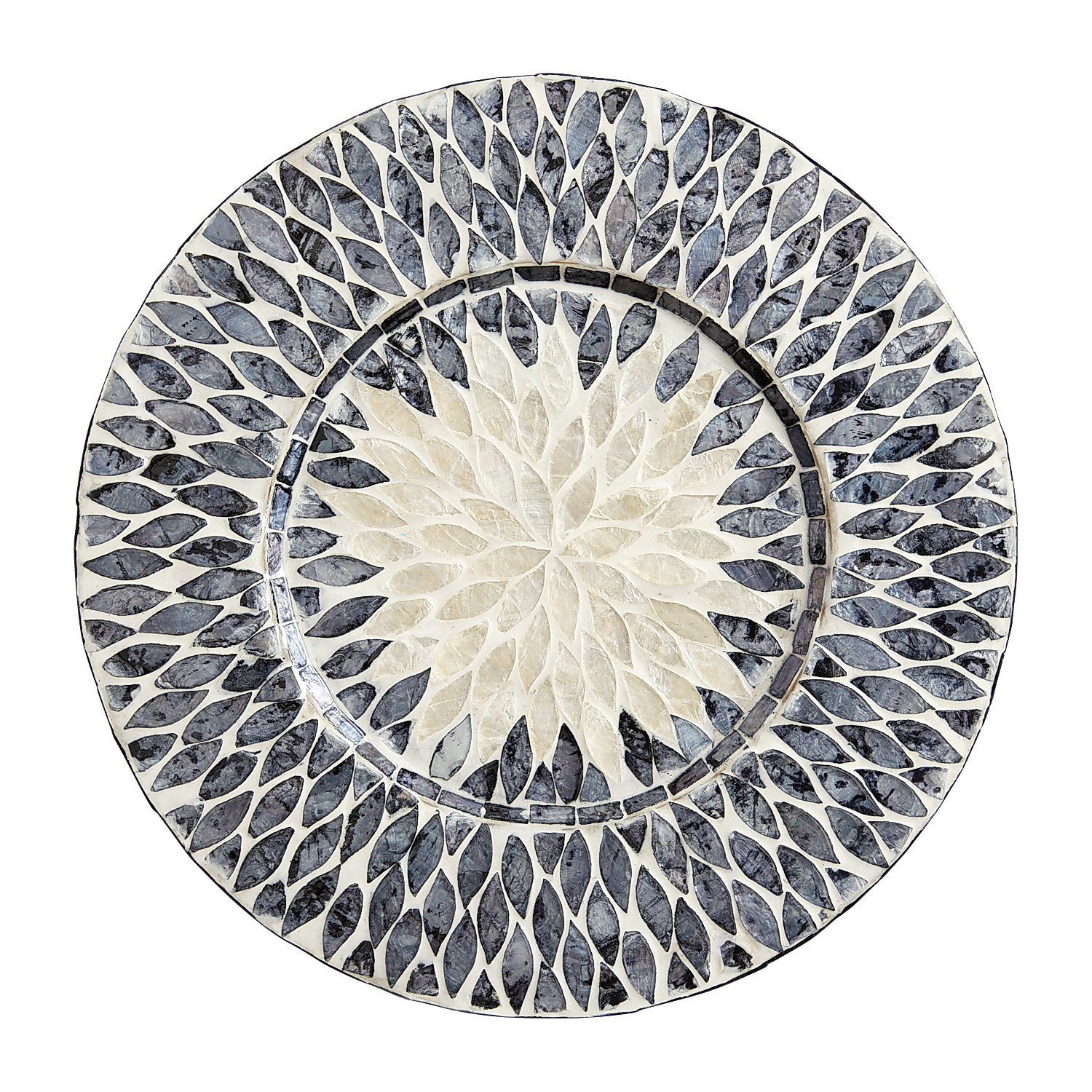 Blue & White Mother-of-Pearl Charger Plate