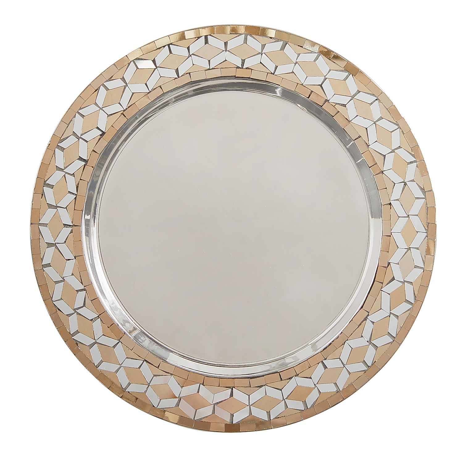Gold & Silver Mirrored Charger Plate