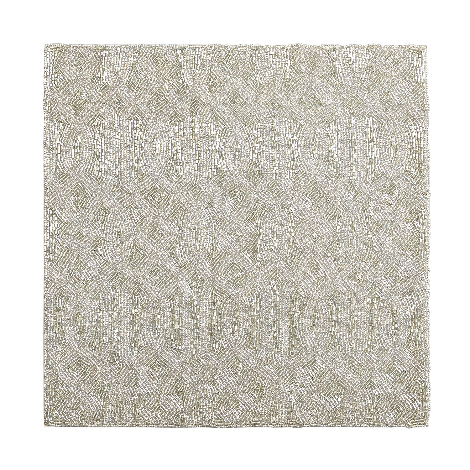 Square Beaded Silver Placemat