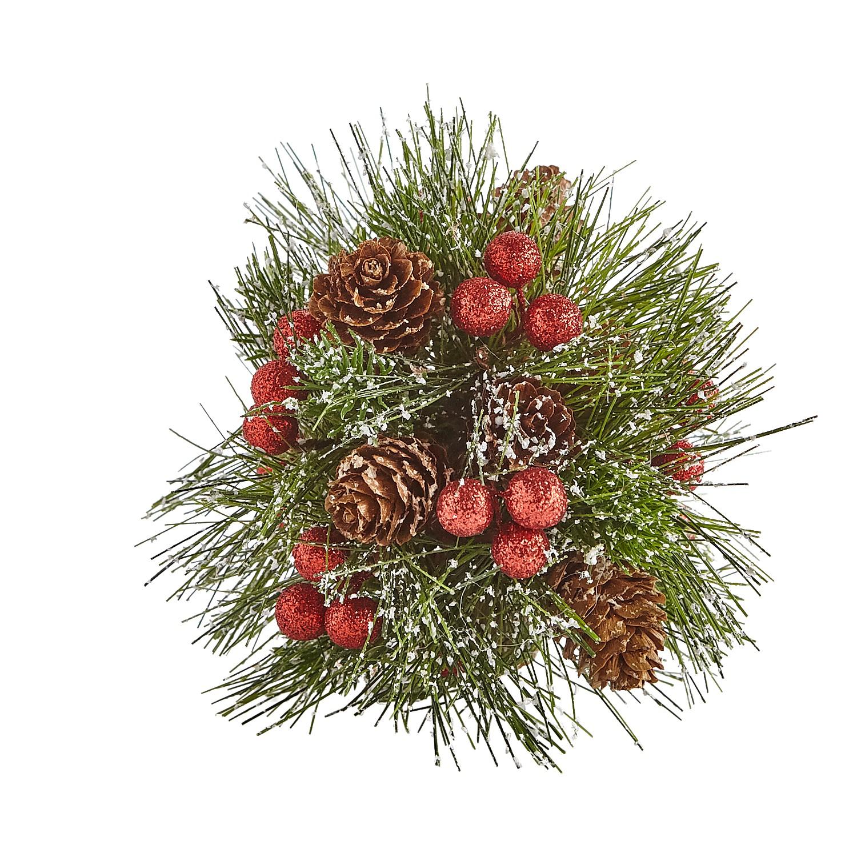 Pine Needle & Berry Decorative Sphere