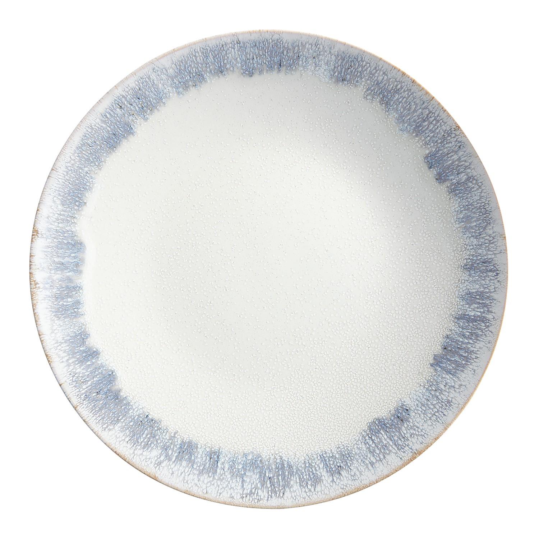 Gray Reactive Rim Salad Plate