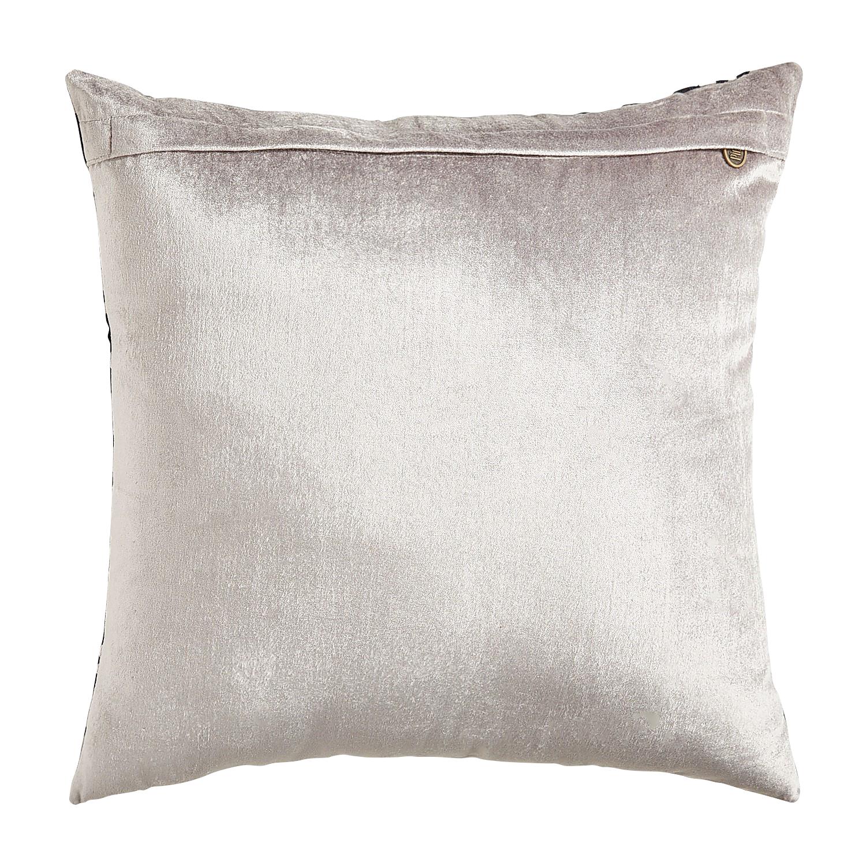 Flocked Animal Print Pillow