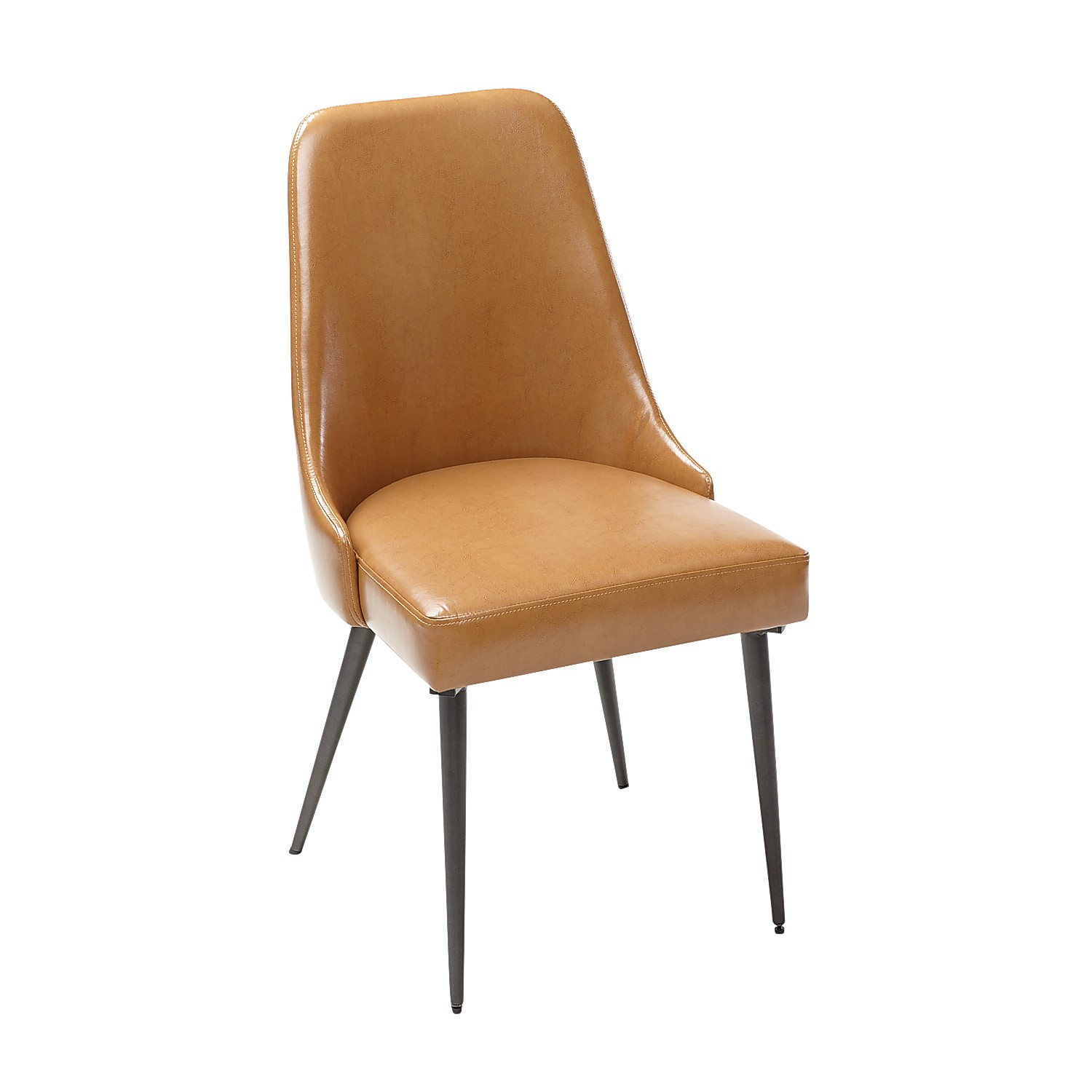 Rissa Camel Faux Leather Dining Chair
