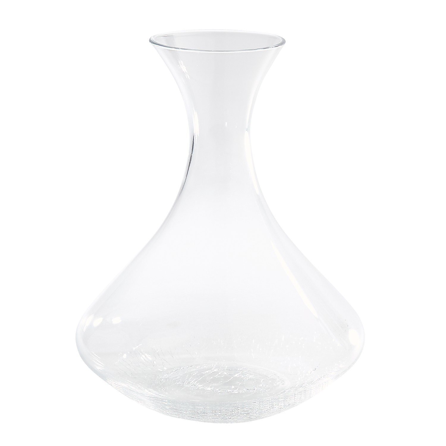 Crackle Clear Decanter