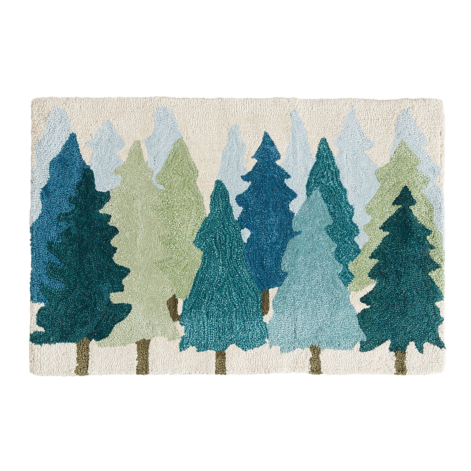 Pine Trees 2x3 Accent Rug