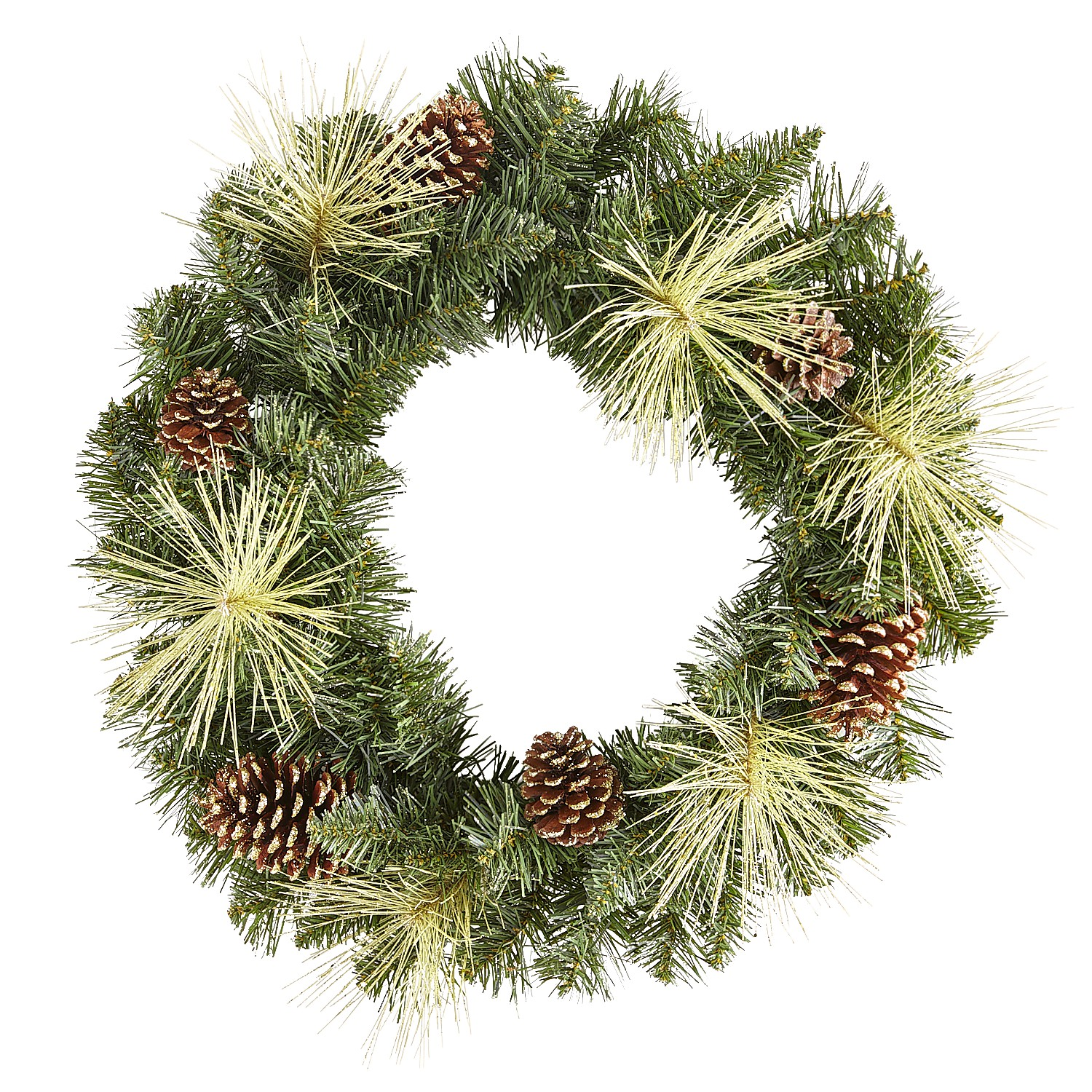 """22"""" Gilded Faux Pine Wreath"""