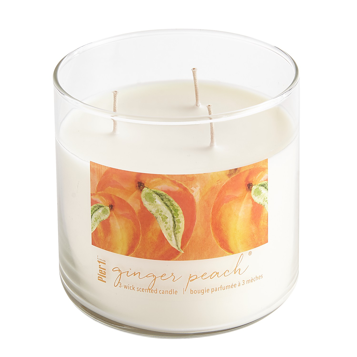 Ginger Peach® Clear Filled 3-Wick Candle