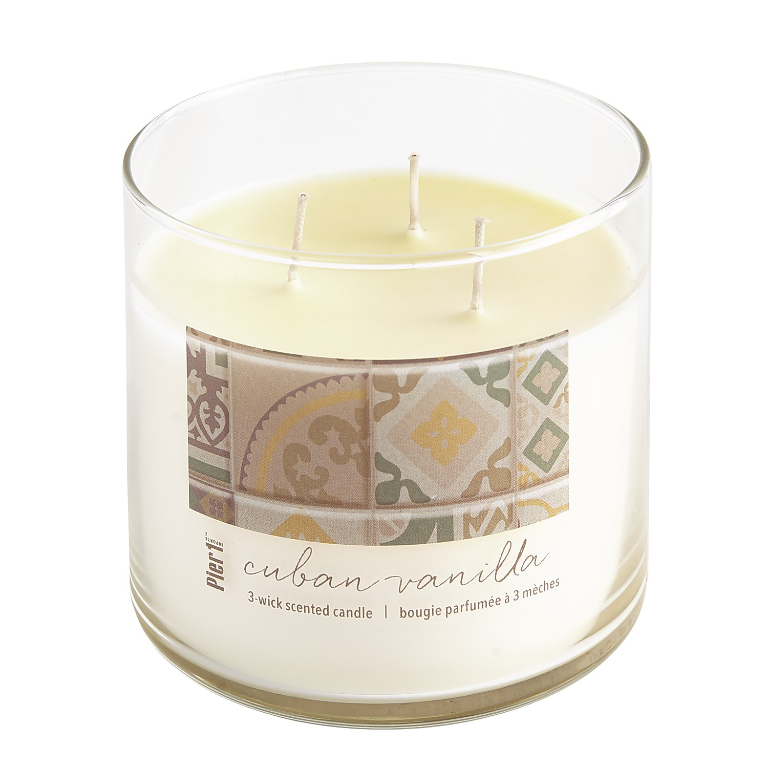 Cuban Vanilla Clear Filled 3-Wick Candle