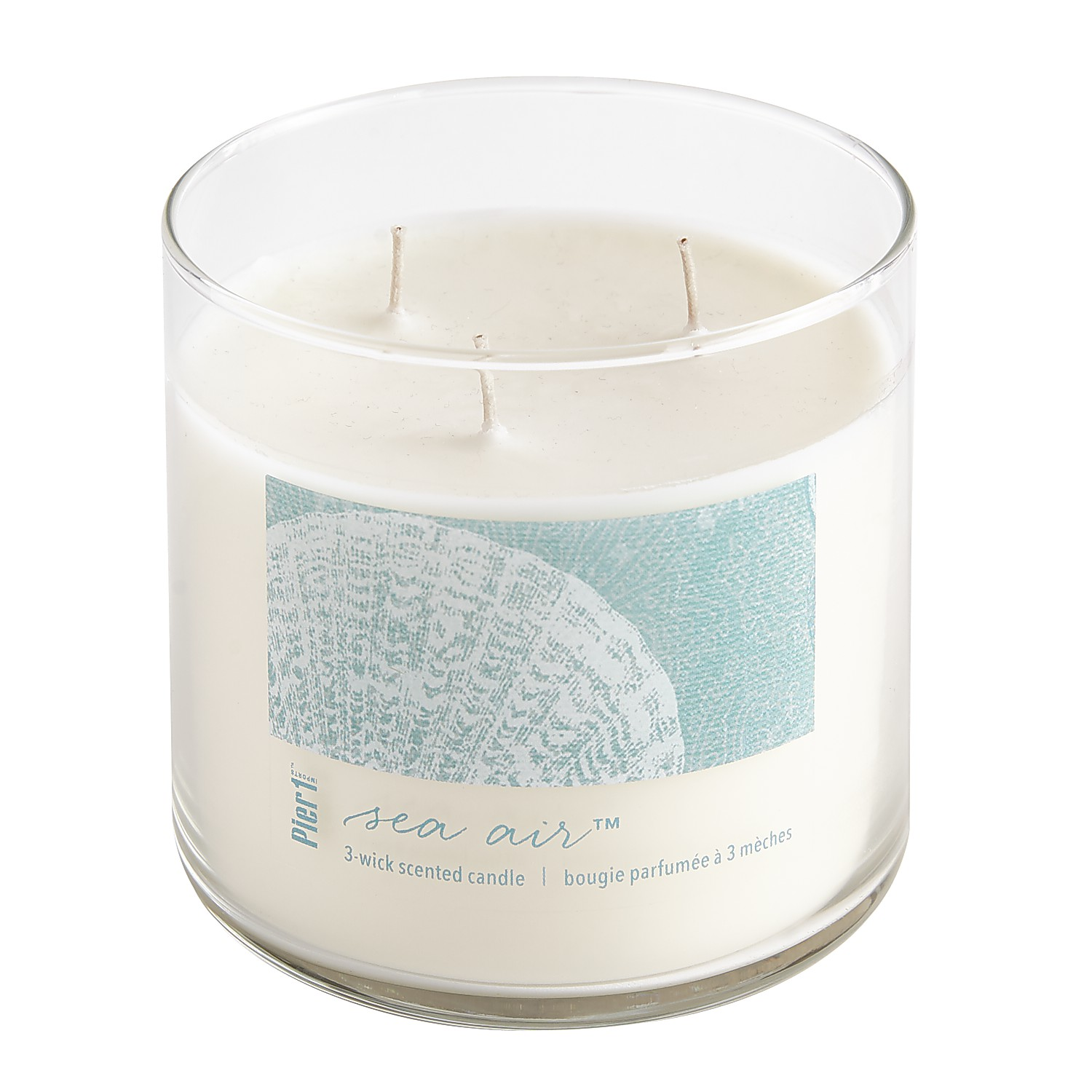 Sea Air™ Clear Filled 3-Wick Candle