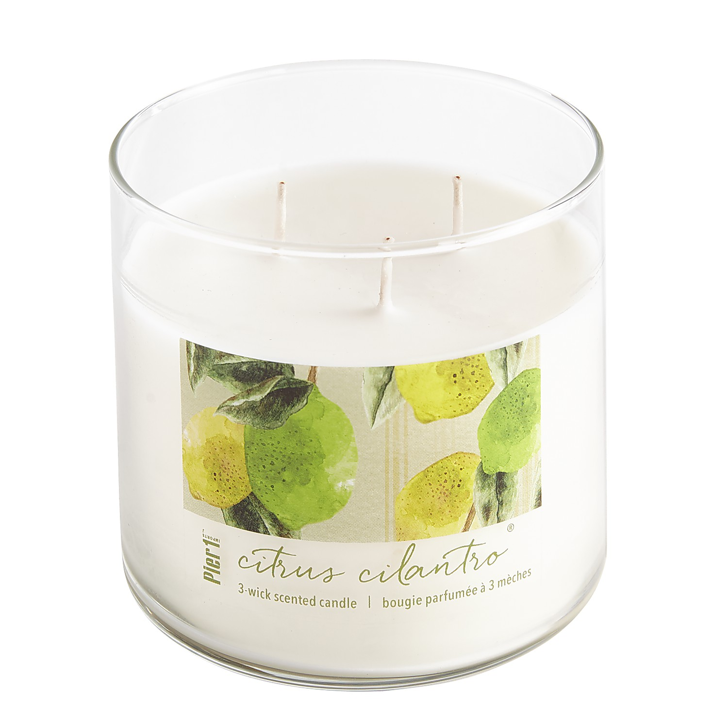 Citrus Cilantro® Clear Filled 3-Wick Candle