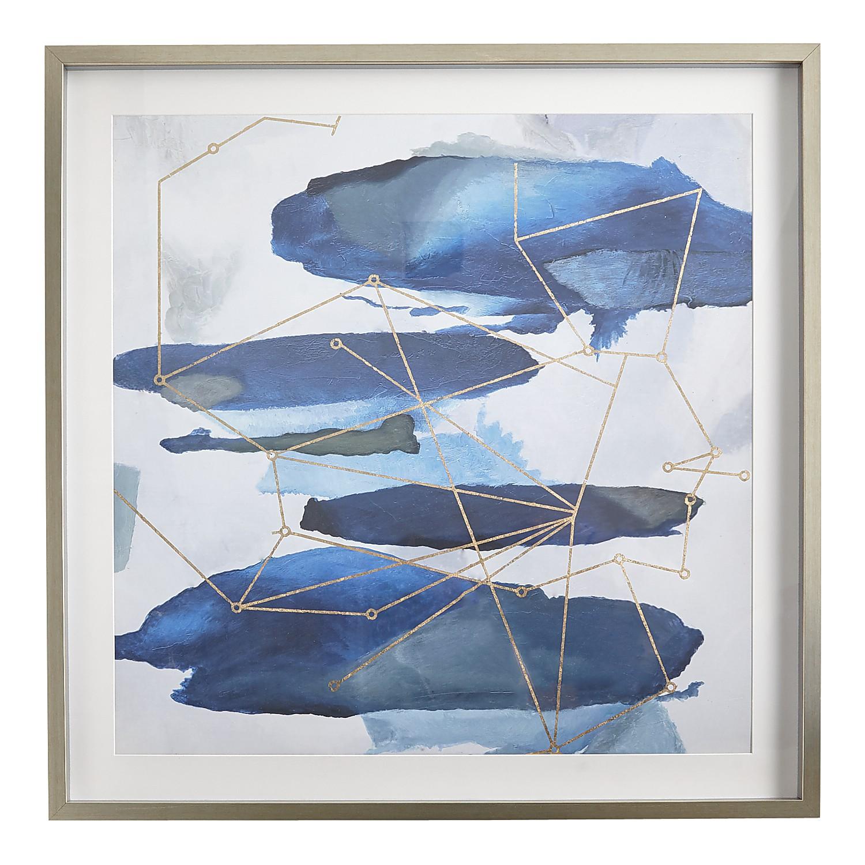 Constellations Blue & Gold Framed Art