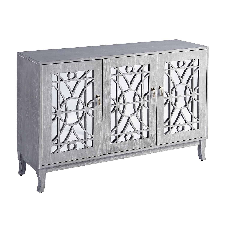 Delaney Gray 3-Door Cabinet
