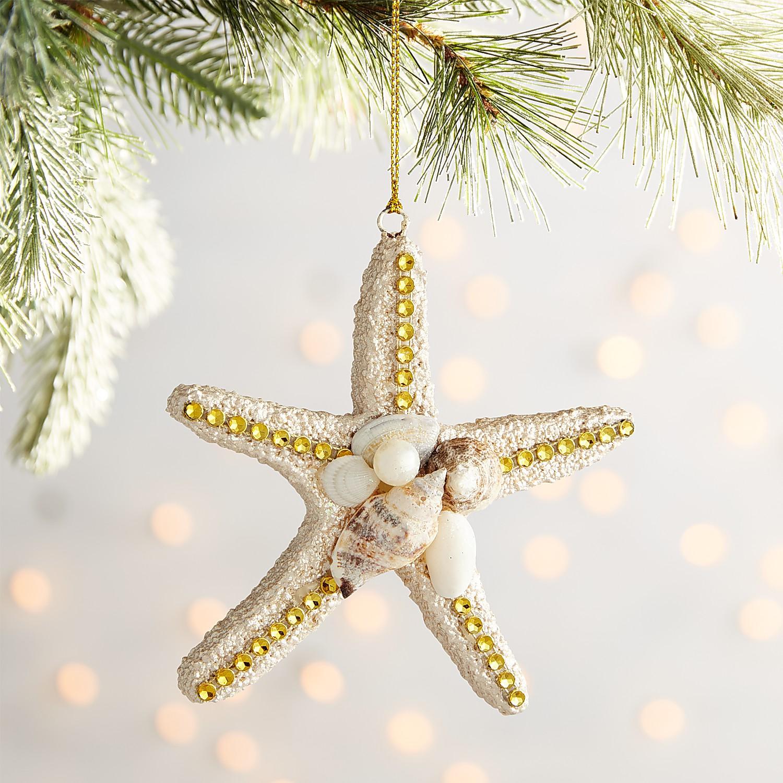 Starfish Ornament with Seashells
