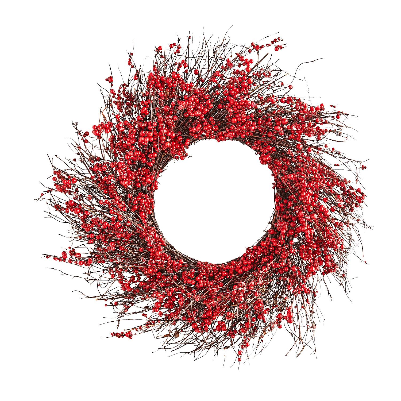"22"" Red Berries Wreath"