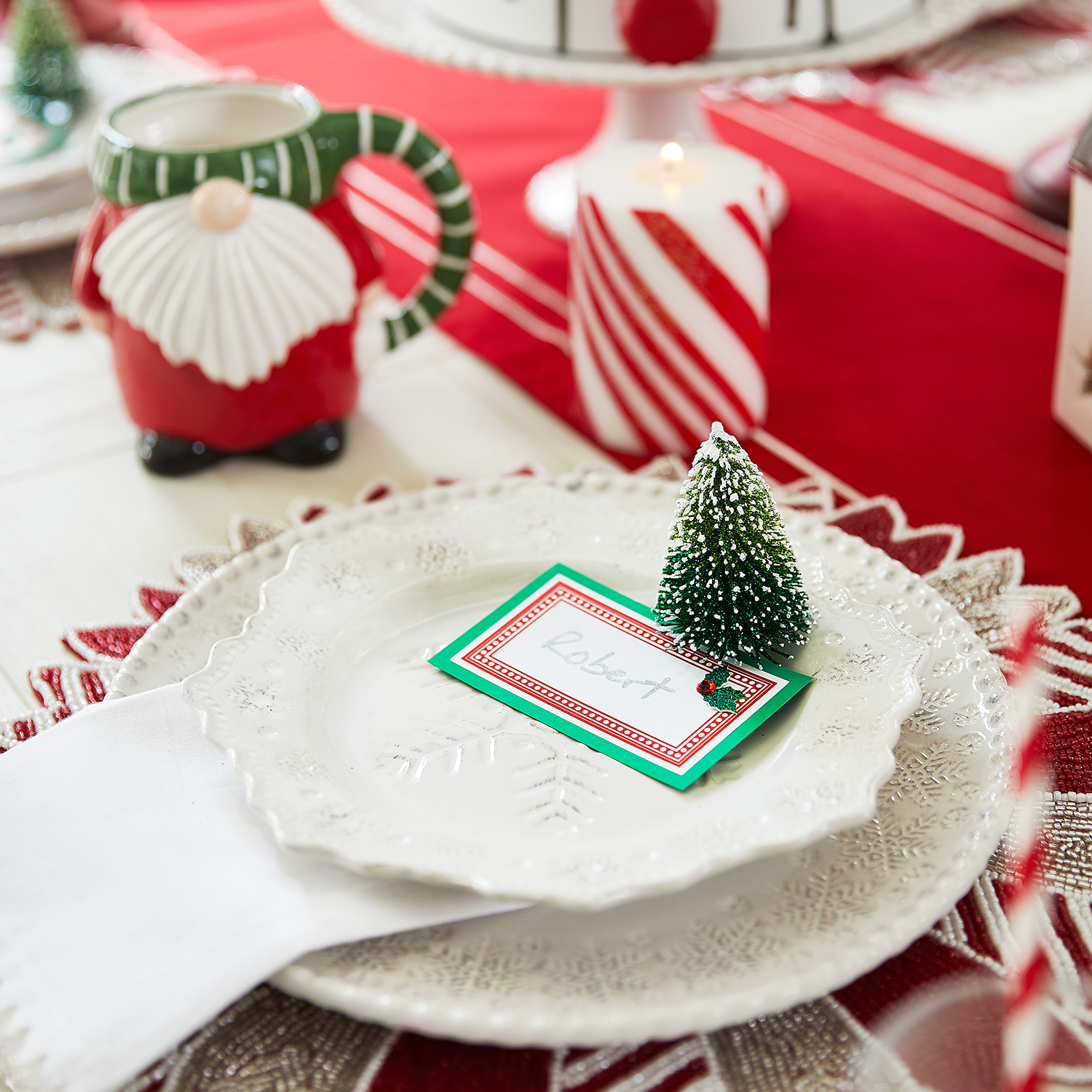 Beaded Peppermint Placemat