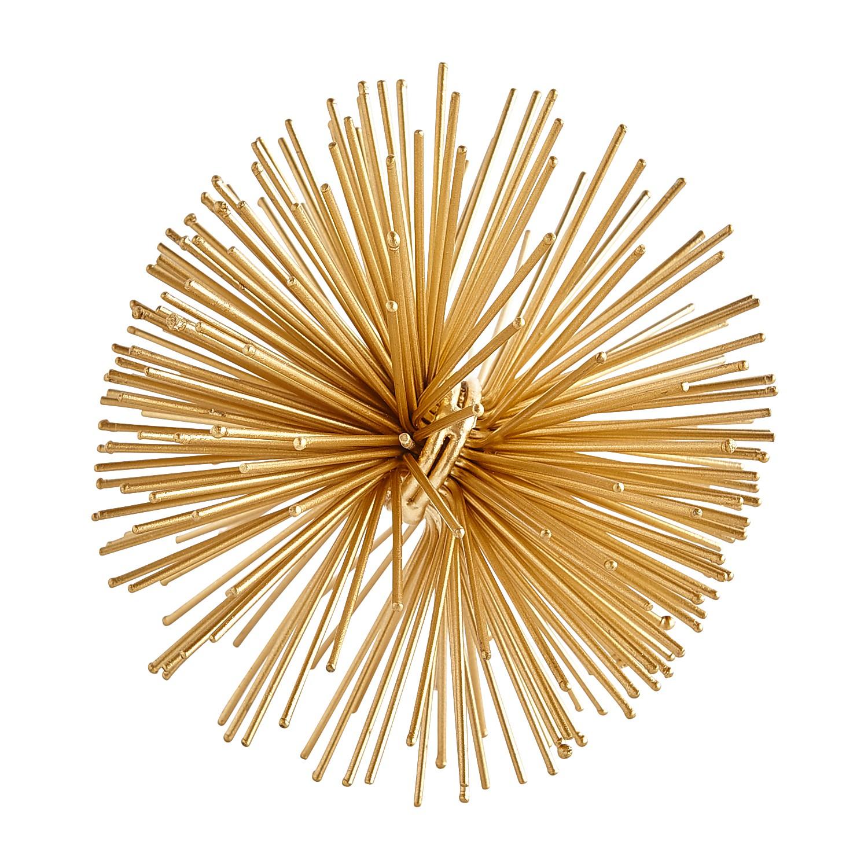 Gold Sunburst Decorative Sphere