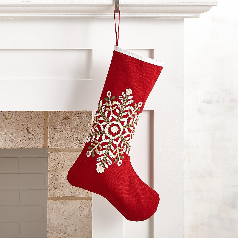 Red Snowflake Stocking