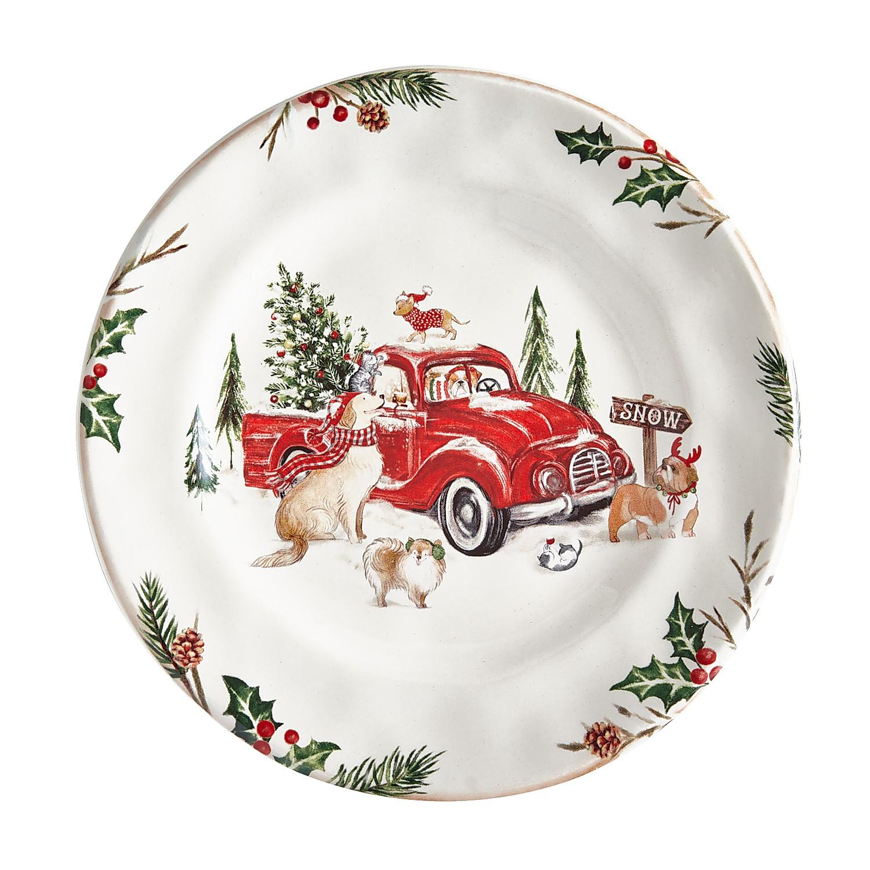 Winter Wonder's Truck & Pups Salad Plate