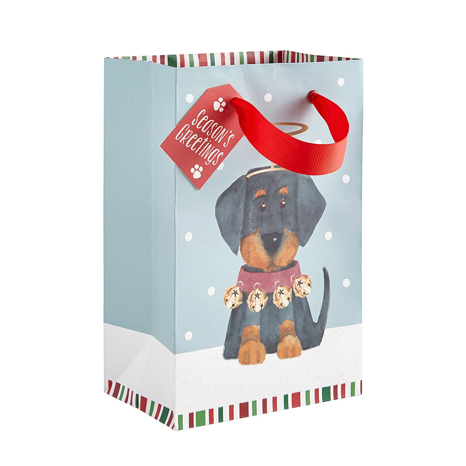 Yorkie Holiday Pups Gift Bag