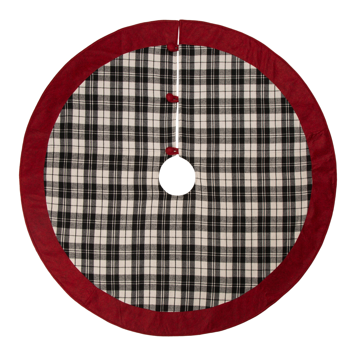 Classic Christmas Plaid Tree Skirt