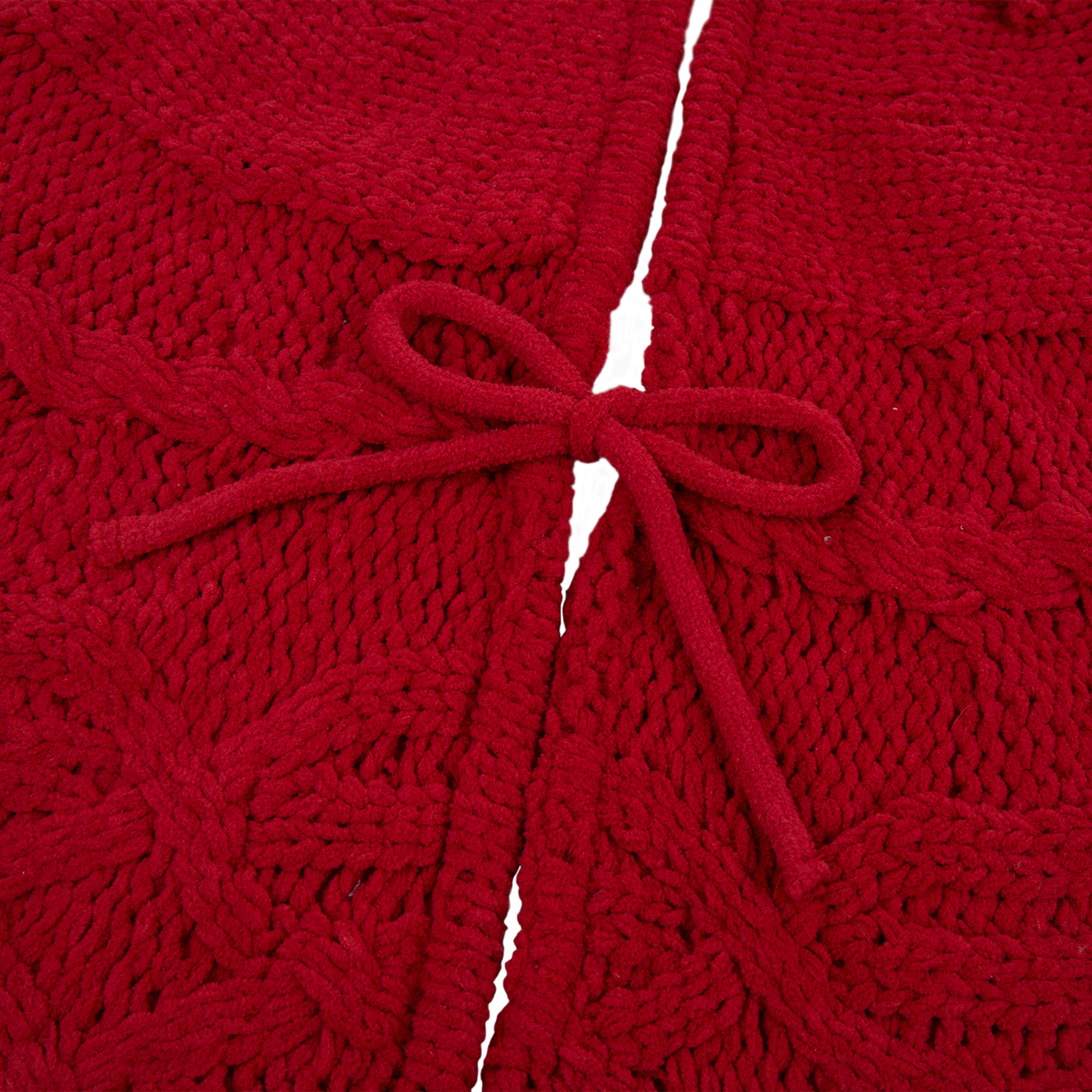 Red Knit Tree Skirt