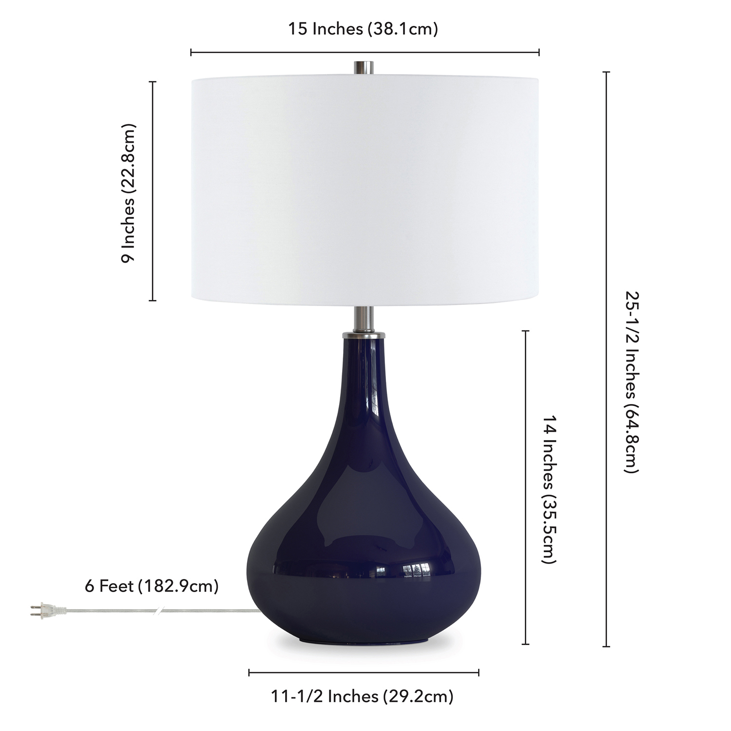 Mirabell Navy Table Lamp