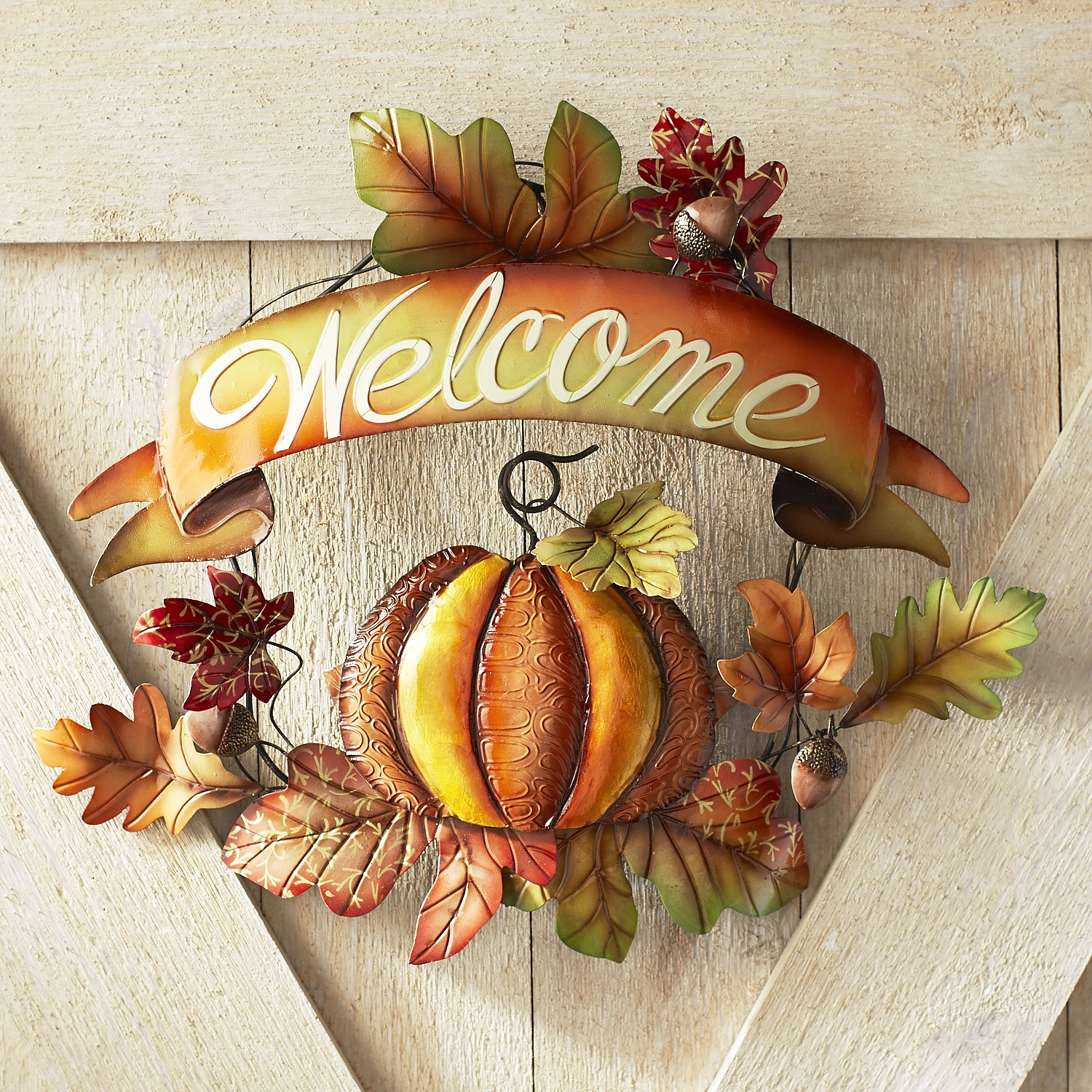 Fall Leaves Welcome Sign