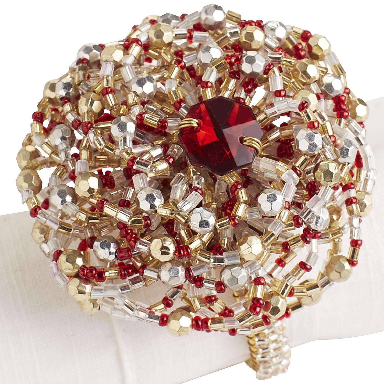 Christmas Tidings Beaded Napkin Ring