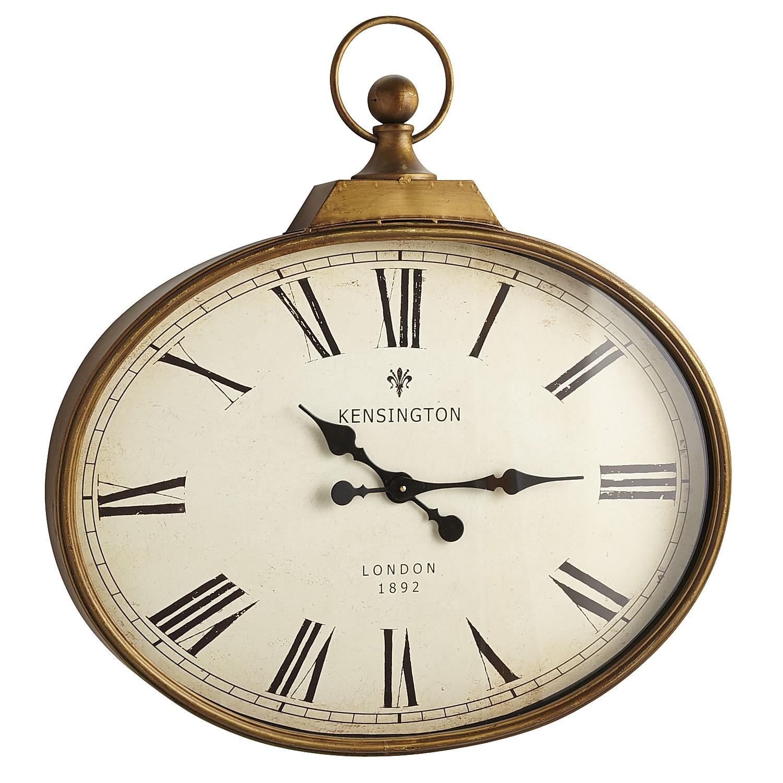 Golden Antiqued Wall Clock