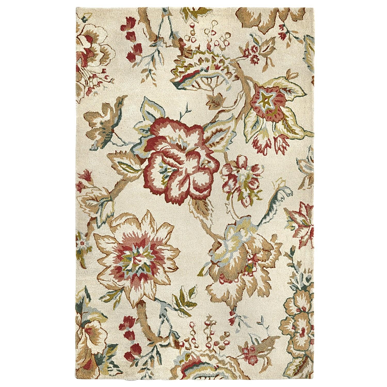 Deena Floral Hand-Tufted Wool Rug - 5x8