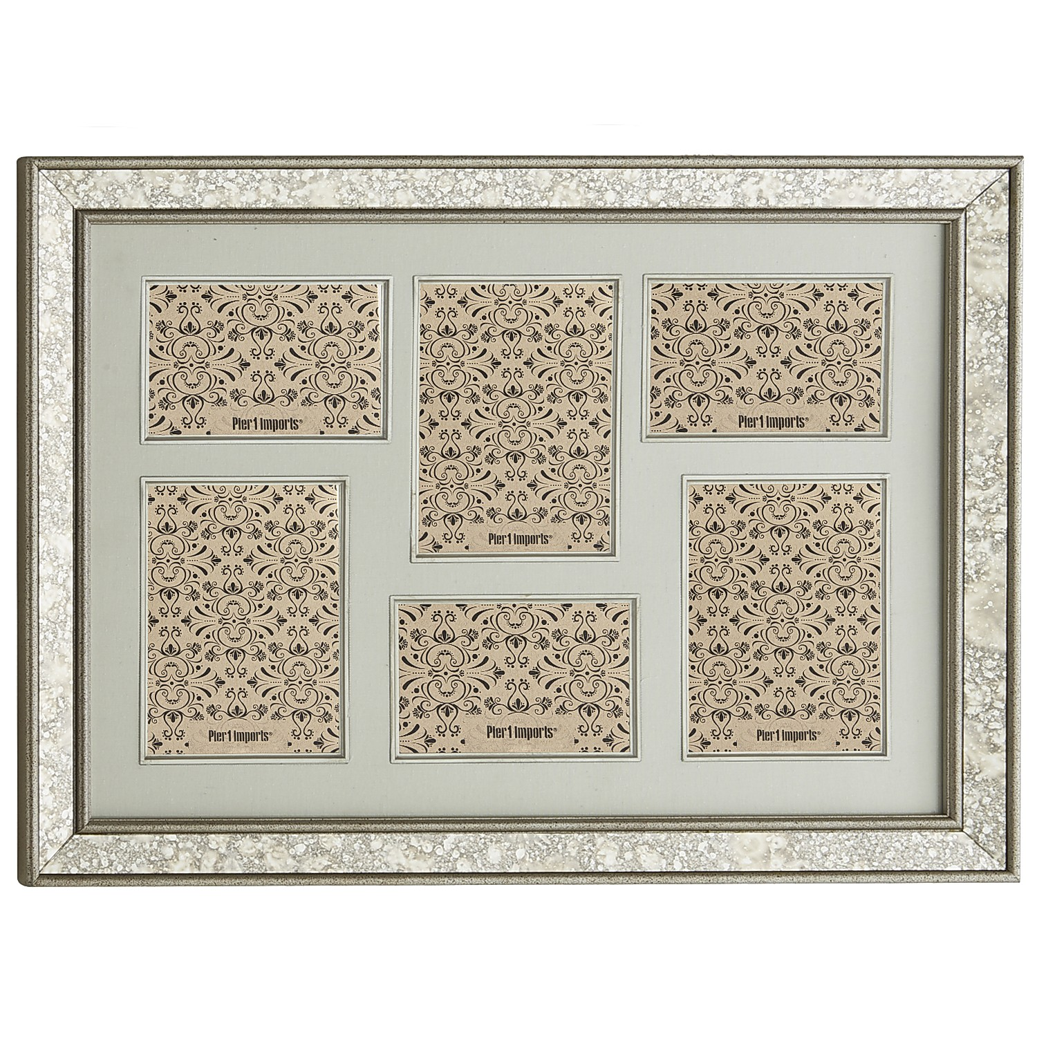 Antiqued Mirror Collage Frame