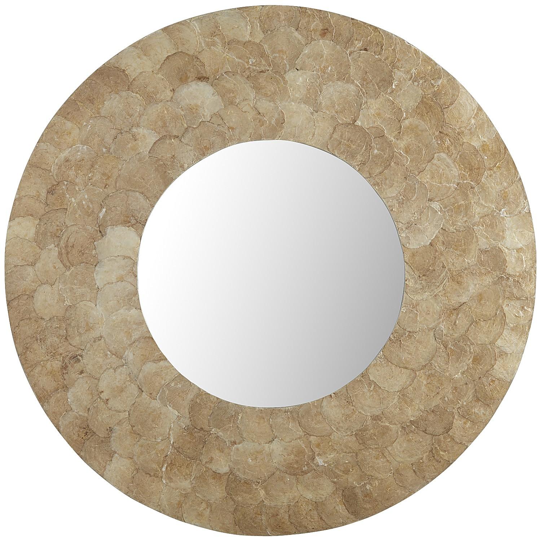 Sagruda Capiz Round Mirror