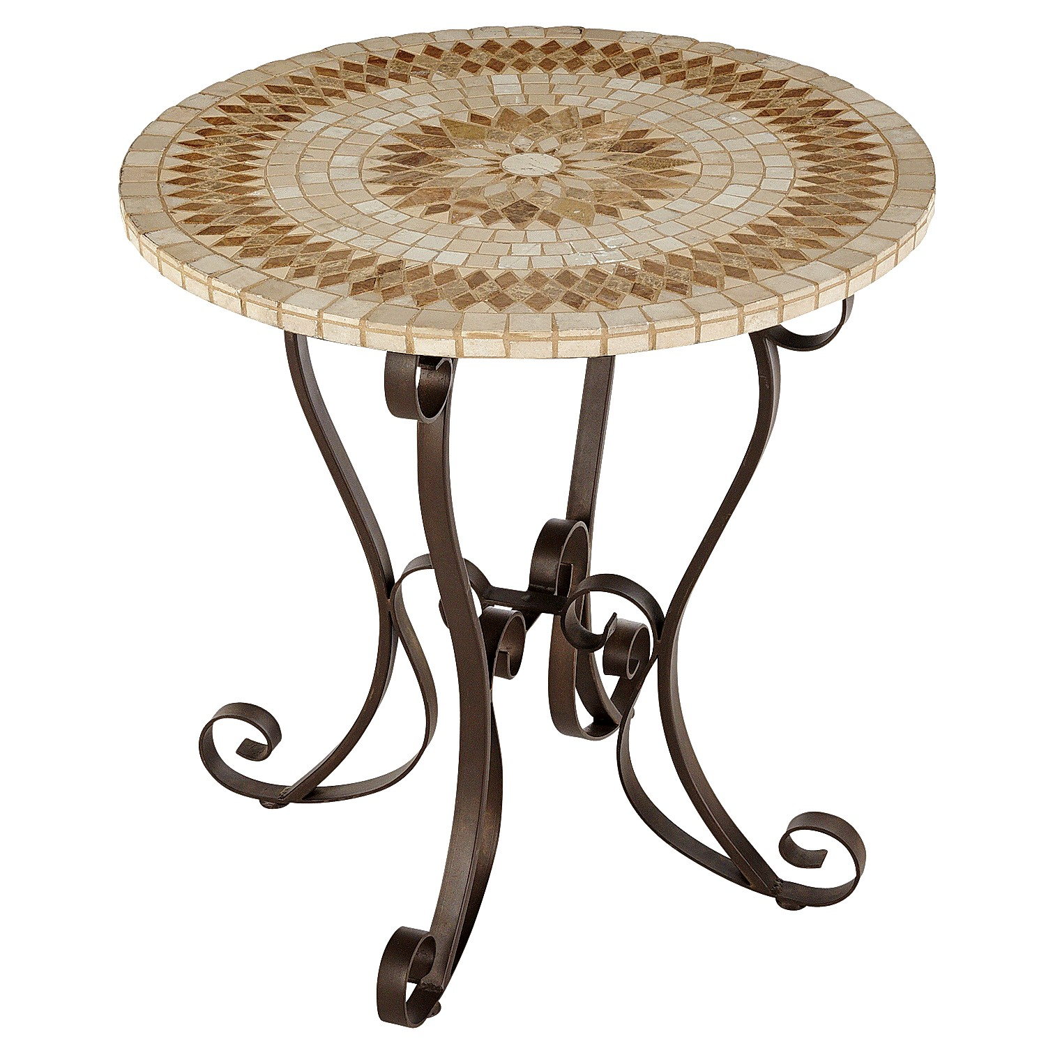 "Paloma 30"" Brown Mosaic Bistro Table"