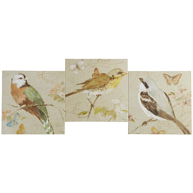 Trio of Birds Art