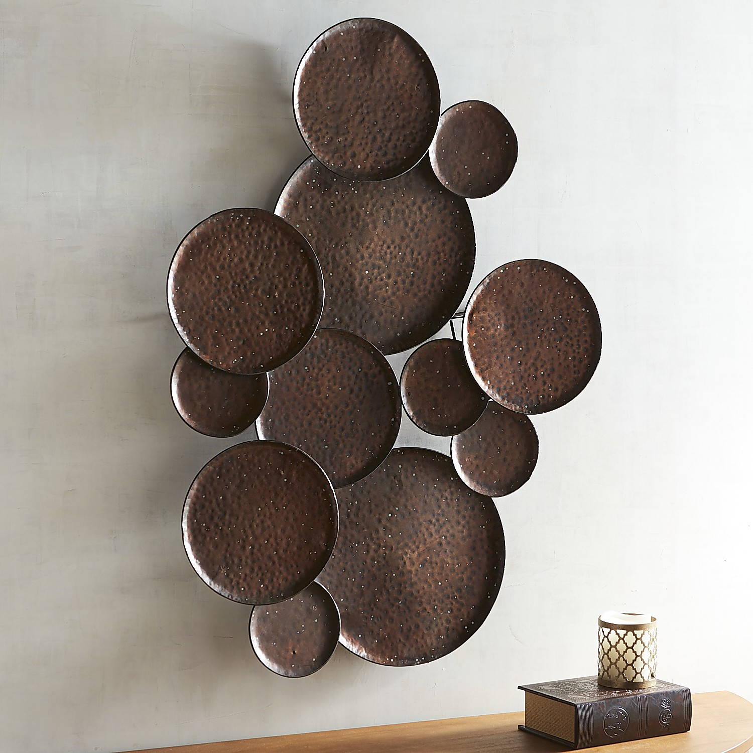 Hammered Plates Wall Decor