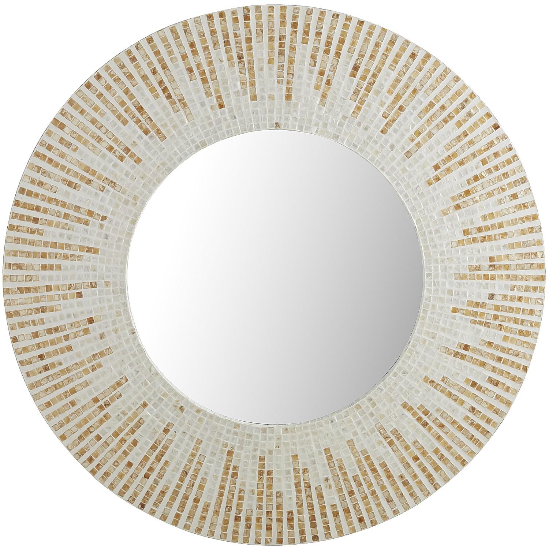 Capiz Ray Round Mirror