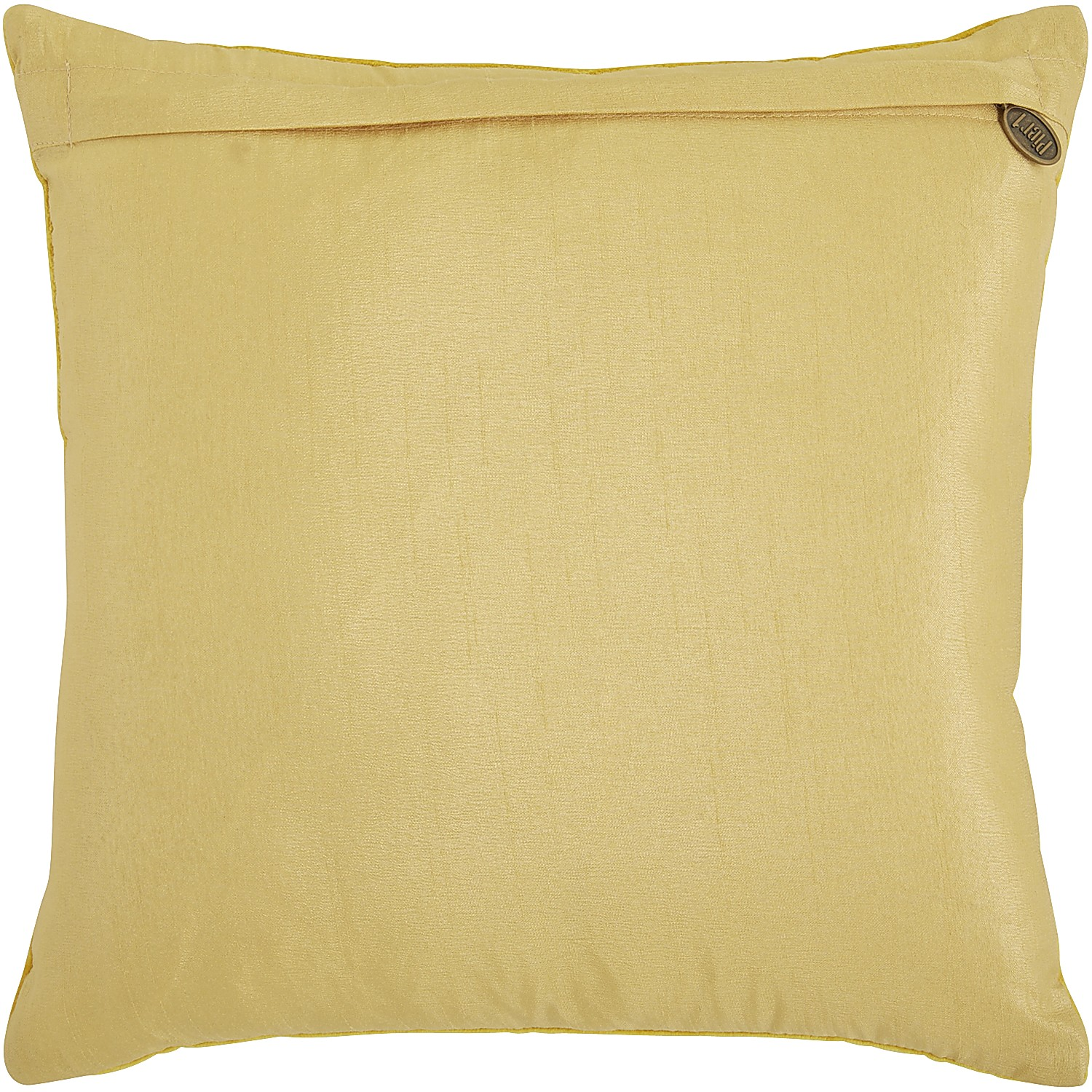 Beaded Medallion Gold Pillow