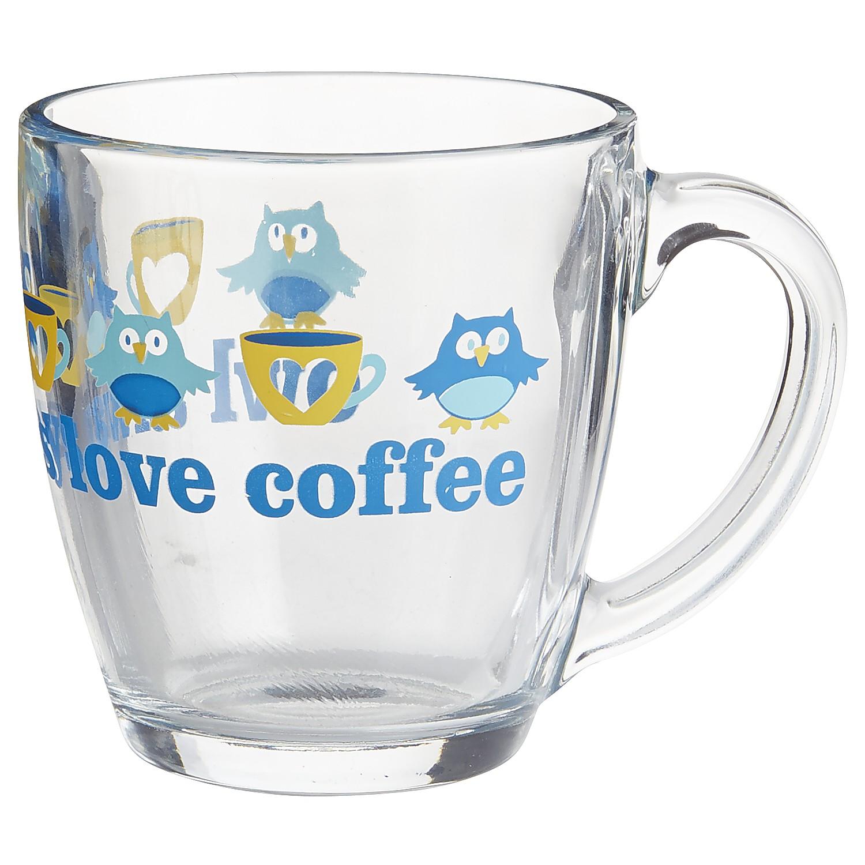 Owl Always Love Coffee Glass Mug