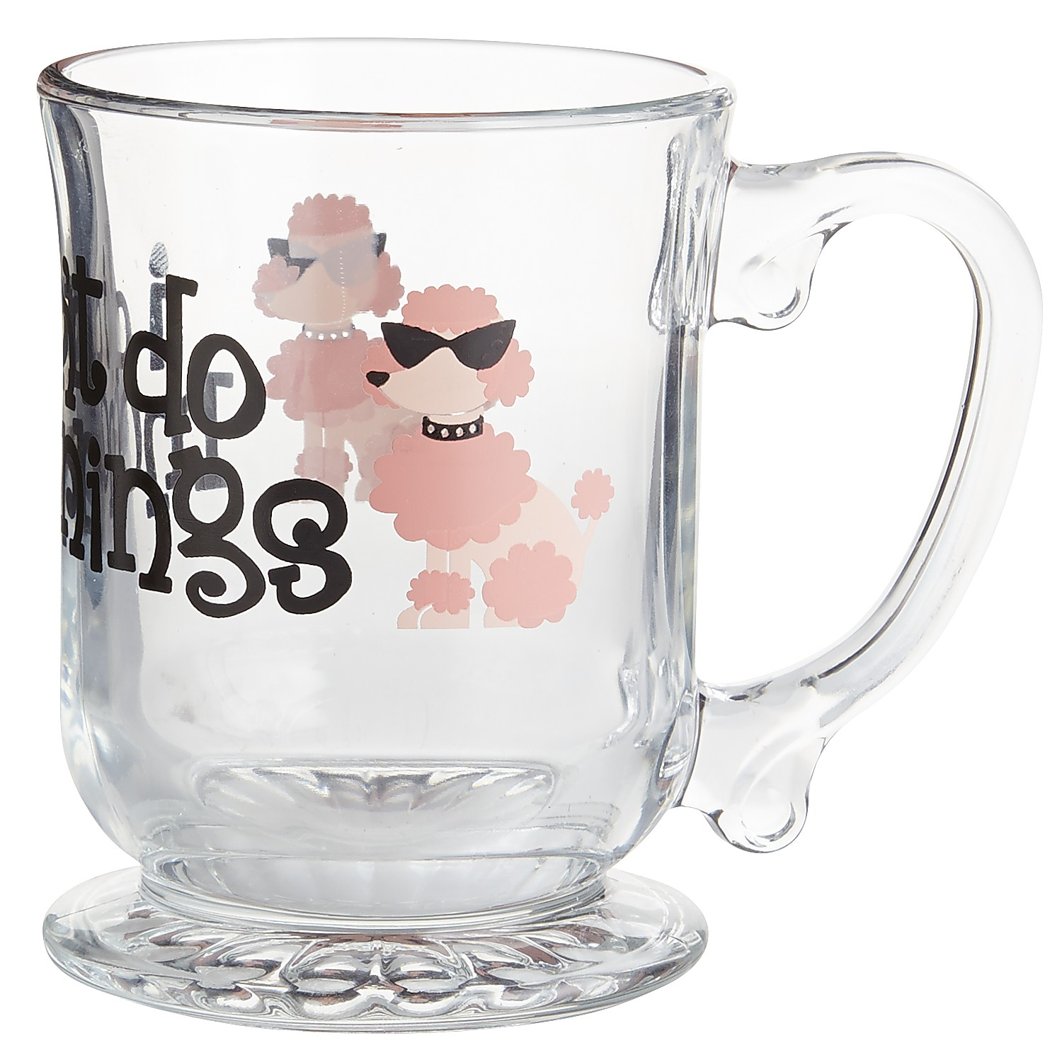 I Don't Do Mornings Glass Mug