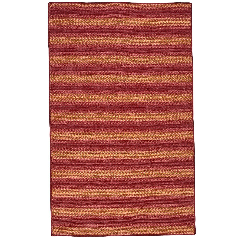 Braid Striped Red 5x8 Rug