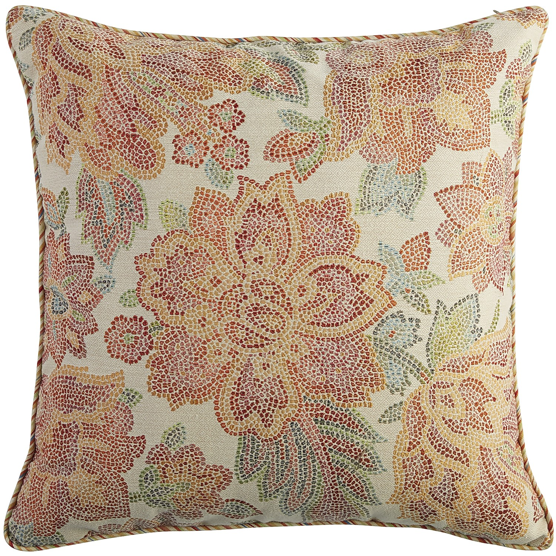Oversized Floral Mosaic Medley Pillow