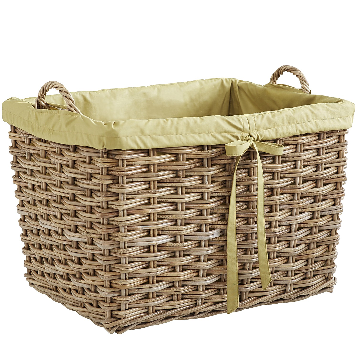 Kubu Natural Wicker Laundry Basket