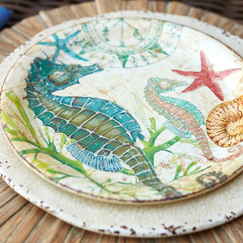 Spike the Seahorse Melamine Salad Plate
